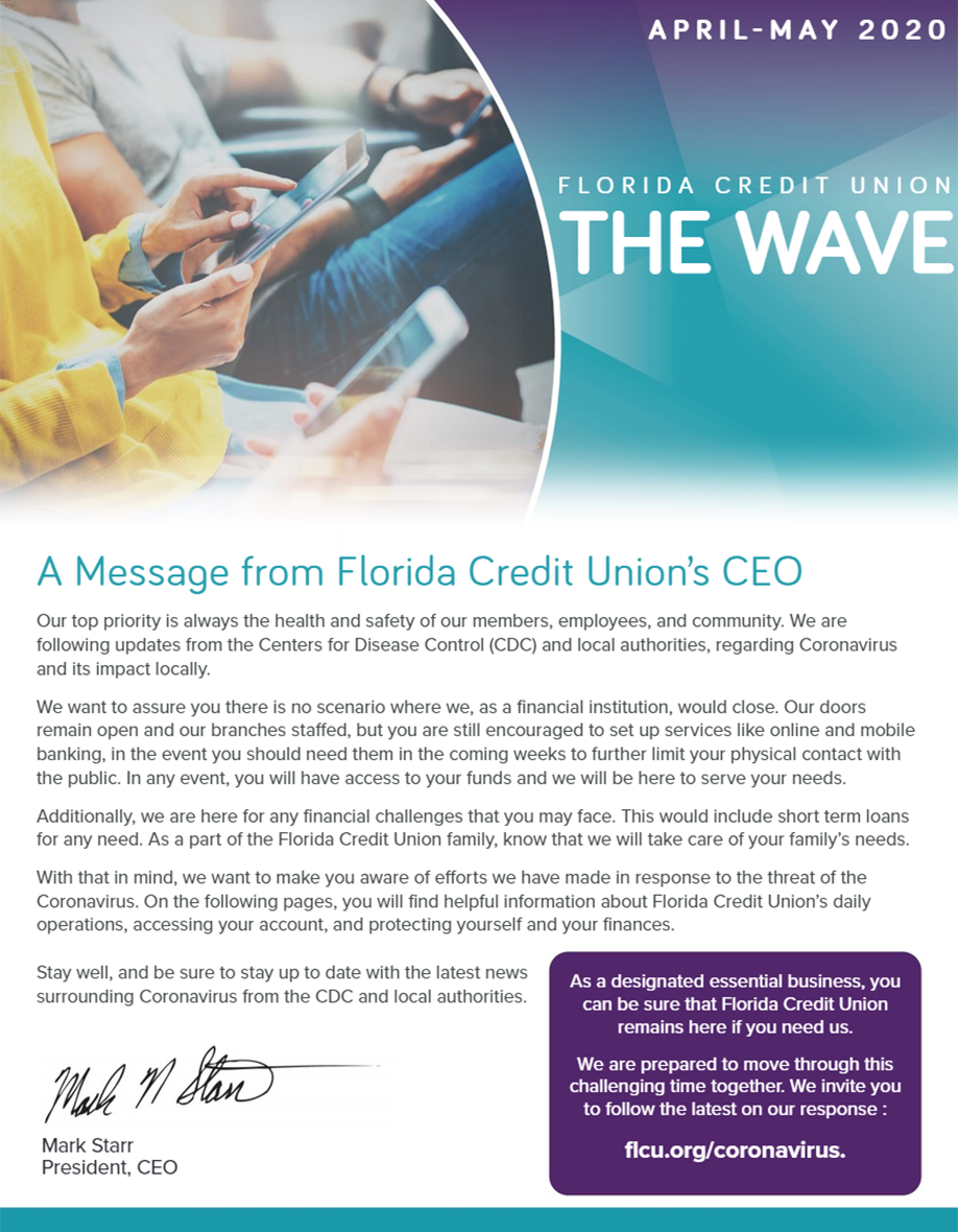 FCU Monthly Newsletter – March 2020